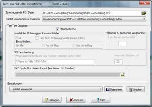 Export von Geocaches ins TomTom-Format