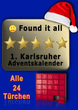 1. Karlsruher Adventskalender - Found it all - Banner