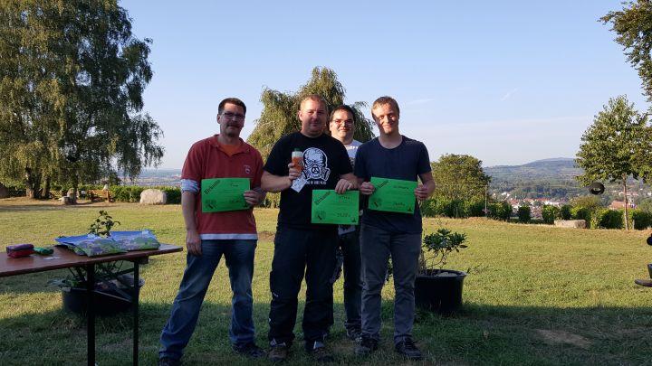 Männer: tinro (3.), mtm1, (1.), GC Drache (2.)