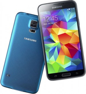 Samsung Galaxy S5 in der Fabe Electric Blue