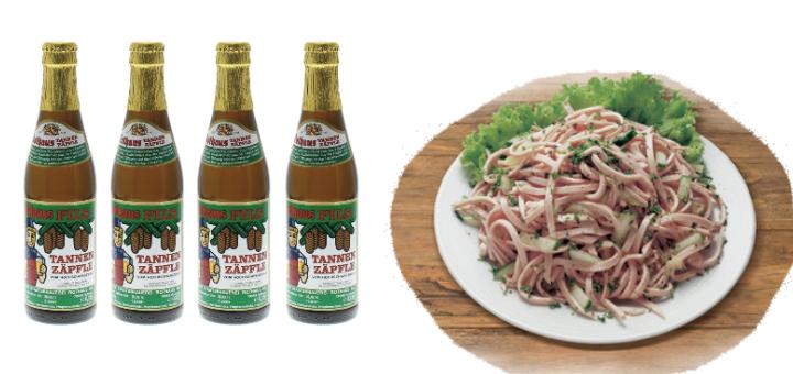 Bier und Wurstsalat