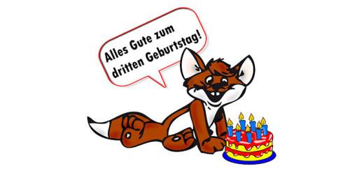 saarfuchs gratuliert zum 3. Geburtstag von GeocachingBW