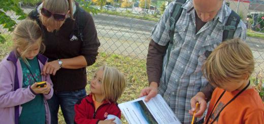 Geocachen für die ganze Familie (Foto: GIS-Station)