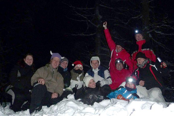 Heiligabend Nachtcache 2010 in gro?er Gruppe