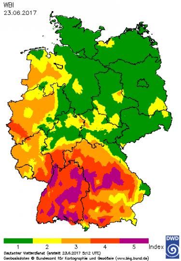 Waldbrand-Gefahrenindex WBI