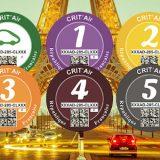 CRIT'Air Umweltplakette für Frankreich