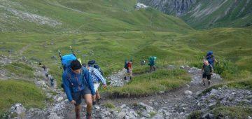 Zu Fuß über die Alpen - Tag 2