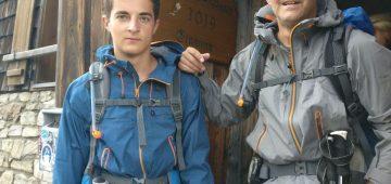Zu Fuß über die Alpen - Tag 5 - An der Huette