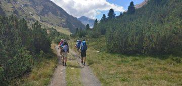 Zu Fuß über die Alpen - Tag 5 - Aufstieg zur Martin-Busch-Huette