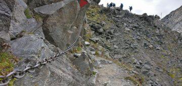 Zu Fuß über die Alpen - Tag 5 - Blick zum Joch